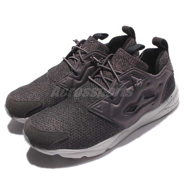 Reebok 休閒慢跑鞋 Furylite GW 灰 全灰 潑墨 刷毛設計 男鞋【PUMP306】 AQ9672