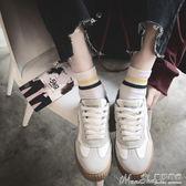 熱銷帆布鞋小白鞋女韓版2017新百搭休閒鞋秋冬厚底原宿帆布鞋女 曼莎時尚