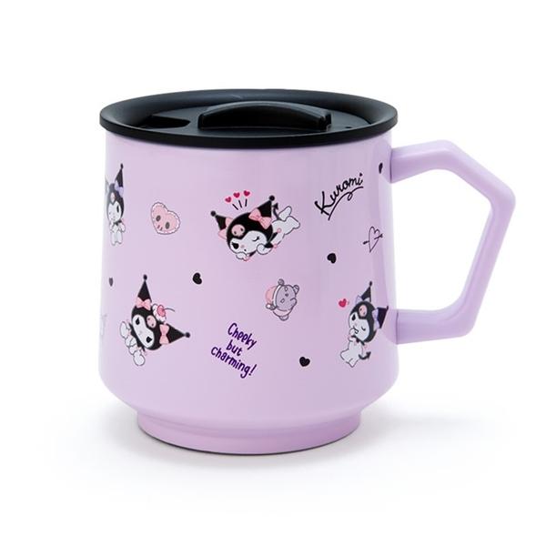 小禮堂 酷洛米 保溫馬克杯 附蓋 350ml (紫滿版款) 4550337-03390