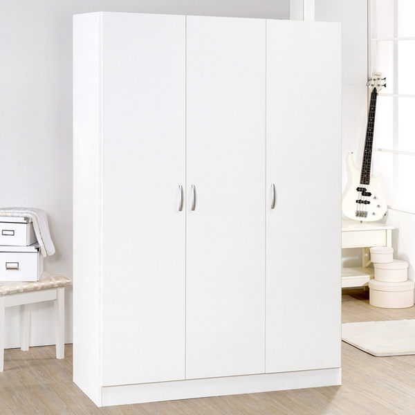 《Hopma》時尚白三門衣櫥