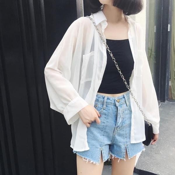 防曬衣女夏季雪紡開衫薄款2020新款韓版超仙女洋氣外搭寬鬆外套 滿天星