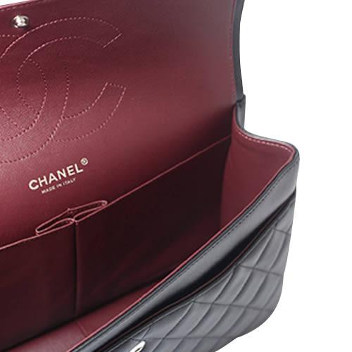 CHANEL JUMBO系列小羊皮雙銀鍊COCO包/黑色 全新品