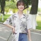 帛卡琪2020夏季新款港風短袖襯衫女復古...