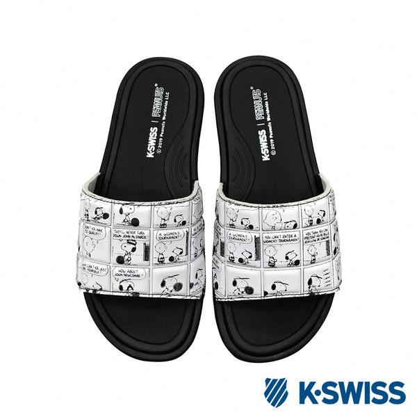 K-SWISS Slide 02史努比聯名 拖鞋-女-黑/白