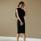 OL洋裝 黑色網紗正式場合裙子赫本連身裙女夏女人味衣服2021新款女裝職業洋裝