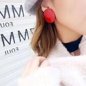 Quenby時尚簡約大紅色無耳洞耳夾/耳環