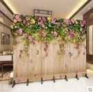 設計師美術精品館歐式屏風隔斷時尚簡約現代客廳美容院臥室辦公室移動折疊布藝折屏
