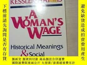 二手書博民逛書店A罕見Woman s Wage: Historical Mean