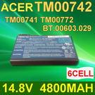 ACER 6芯 TM00742 日系電芯 電池 TM00742 TM00772 Extensa 5120 5210 5220 5420 5430 5620G 5620Z 5630 5630G 7220 7620 7620G