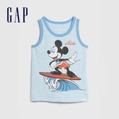 Gap 男幼童 Gap x Disney迪士尼系列圓領無袖上衣 577610-海水藍