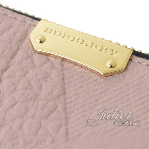 茱麗葉精品【專櫃款 全新現貨】 BURBERRY 4554727 Peyton 格紋小牛皮手拿斜背包.粉色