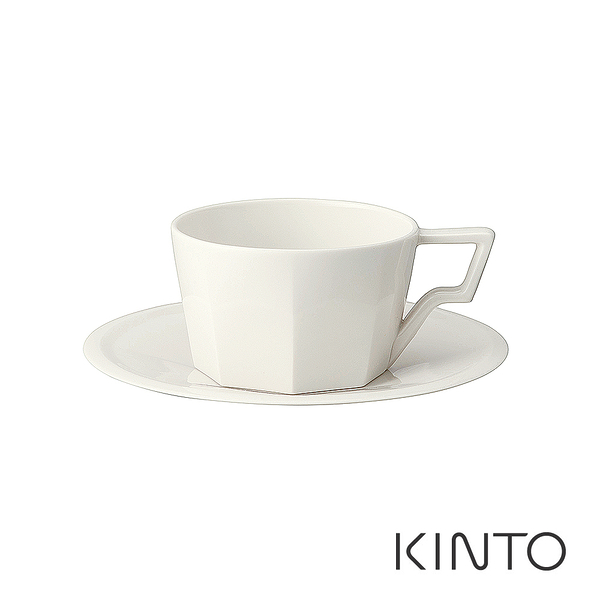 日本KINTO OCT八角咖啡杯盤組300ml (白)