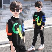 男童毛衣男童洋氣毛衣秋裝好康推薦新品韓版中大童男孩套頭針織衫潮衣