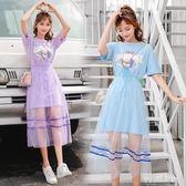 純棉長版t恤女寬松中長款學生韓版新款上衣2018夏季短袖女 js3935『科炫3C』