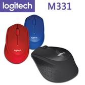 【免運費】Logitech 羅技 M331 SILENT PLUS 無線滑鼠 (黑、紅、藍)