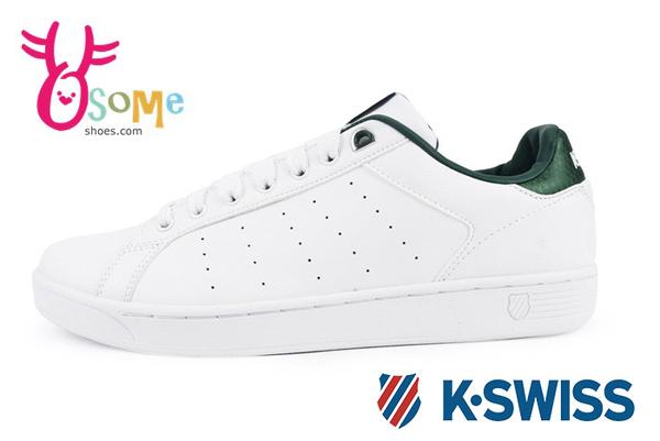 K-Swiss Clean Court CMF休閒鞋 男鞋 真皮 運動鞋C9944#白綠◆OSOME奧森鞋業