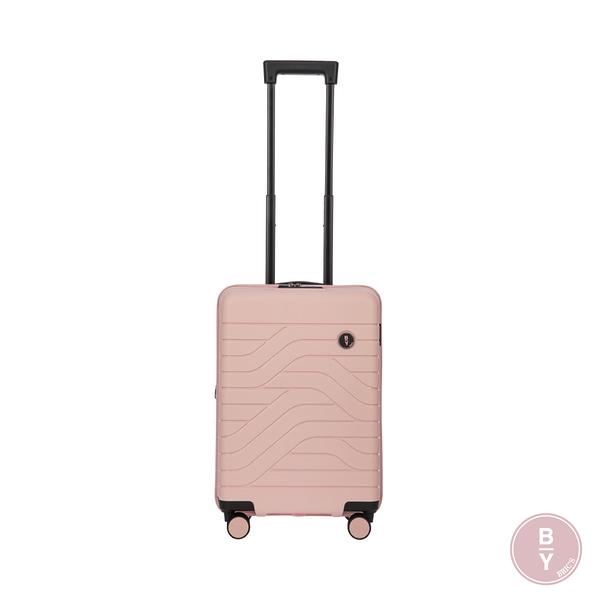 BRIC'S B|Y Ulisse義大利品牌 19.5吋拉鍊擴充拉桿箱 PP材質 登機箱(粉) B1Y084