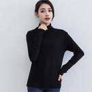 長袖T恤 韓版熱賣新款半高領打底衫女 網紅長袖純色莫代爾t恤修身百搭上衣