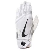 Nike 打擊手套 Huarache Edge 運動手套 白 灰 魔鬼氈 棒球手套【PUMP306】 NBG01-115