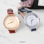 手錶 正韓JULIUS水鑽刻度皮革手錶 柒彩年代【NEK46】單支