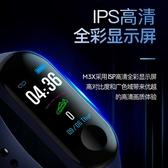 M3PLUS彩屏M3智慧手環心率監測計步信息推送藍芽運動手環廠商 完美