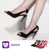 韓系雜誌風蝴蝶結綁帶露趾跟鞋/2色/35-39碼  (RX1135-117-2) iRurus 路絲時尚