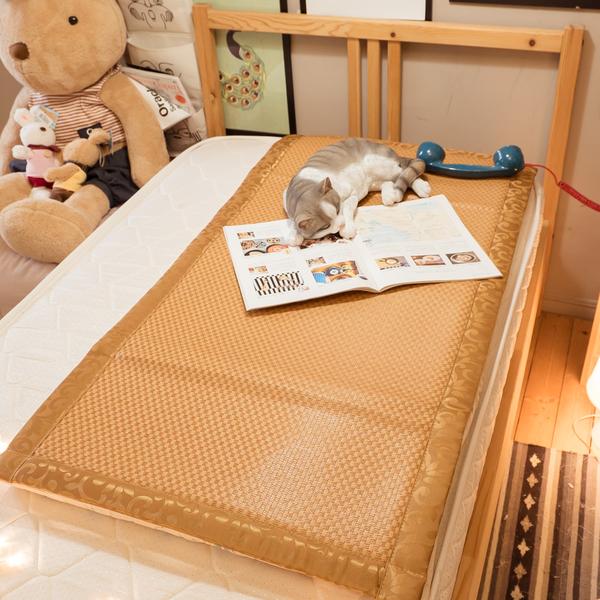專櫃級MIT專利涼感 嬰兒童專用 3D【加厚款】涼蓆 純植物纖維 清涼透氣不夾髮 台灣製造