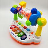 兒童音樂搖鈴電子琴0-1歲嬰兒玩具3-6個月9女孩寶寶FA【快速出貨超夯九折】