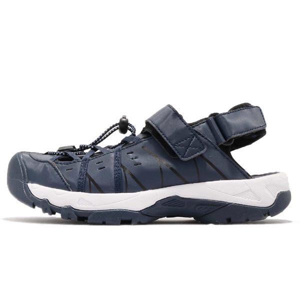 DIADORA 涼鞋 藍 白 護趾排水運動涼鞋 水陸兩用 戶外 運動鞋 男鞋【PUMP306】 DA8AMS5896
