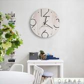 掛鐘 時鐘掛鐘北歐木質時尚客廳臥室鐘表