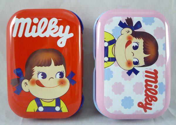 【震撼精品百貨】Peko 不二家牛奶妹~收納鐵盒/小物盒 (紅、粉)【共2款】