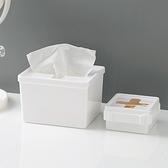 【BlueCat】十字開口 軟蓋 無印風收納盒(中號) 口罩 衛生紙 垃圾袋 抽取式收納 廚房