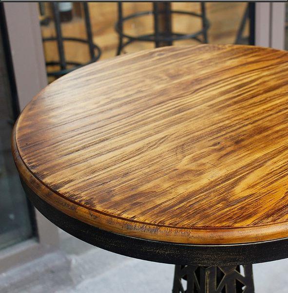 【南洋風休閒傢俱】餐桌系列-美式復古鐵藝圓餐吧台桌  艾菲爾鐵塔工業風鐵桌 咖啡廳專用吧台桌