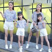【熊貓】親子裝襯衫夏季新款女童純棉襯衣母女裝