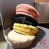 女貝雷帽毛呢英倫畫家帽子日系韓版秋冬季【櫻田川島】