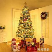 聖誕樹 圣誕樹套餐家用1.2圣誕節裝飾品金色zzy8914『時尚玩家』