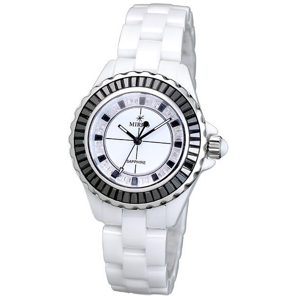 MIRRO 炫光彩晶鑽陶瓷錶(黑)