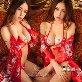 (交換禮物)日系和服性感日式印花和服大尺碼角色扮演制服極度誘惑套裝cos情趣內衣睡衣
