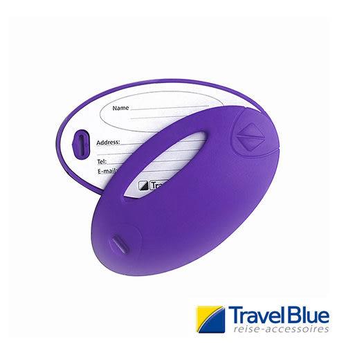 英國Travel Blue藍旅 螢光行李掛牌 紫色 2入 露營│登山│戶外│旅遊│出國│背包掛牌TB015C