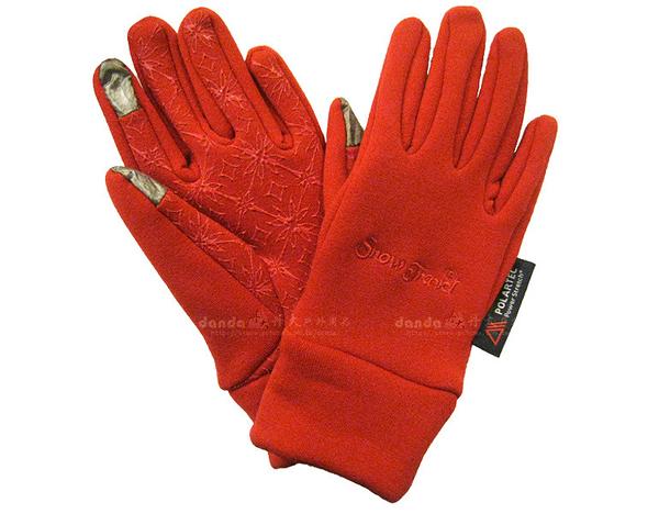 丹大戶外用品【SnowTravel】美國X-static銀纖維保暖防風手套 可帶著觸控螢幕 防滑/觸控 型號AR-61 紅