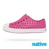 native 大童鞋 JEFFERSON 小奶油頭鞋-好萊塢粉x貝殼白