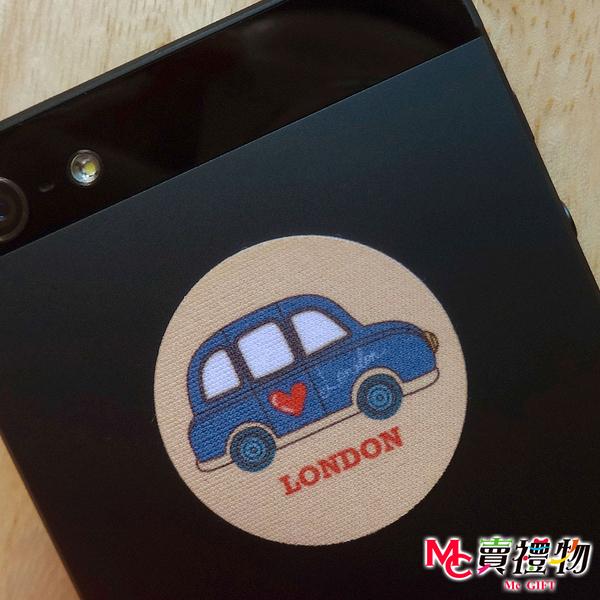 Mc賣禮物-MIT手機螢幕擦拭貼經典尺寸(1片)-倫敦愛的TAXI【W12030】