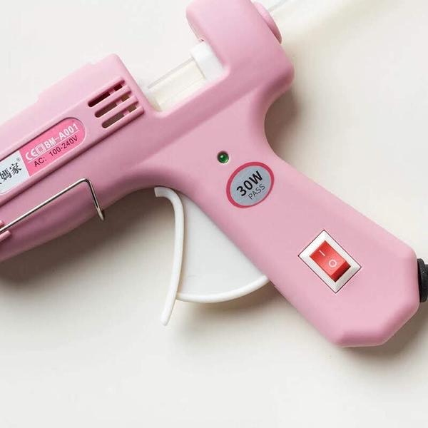 永生花DIY製作工具,少女心粉色熱融膠槍,適用小膠條