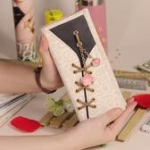 定制   2017新款女生小清新長款錢包韓版個性可愛學生女士時尚潮搭扣錢夾