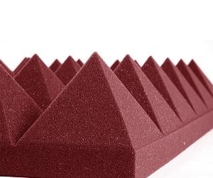 美國 Auralex Pyramid 4吋 金字塔 酒紅色 吸音棉 人聲配唱室 空間處理 NRC 0.7 61x61cm