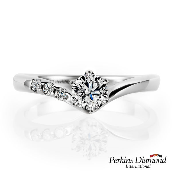 GIA 鑽石戒指 PERKINS 伯金仕 Princess系列 0.30克拉鑽石戒指