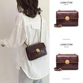 包包 法國質感流行小ck棕色包包女2021新款潮斜挎夏天夏季百搭小眾鏈條