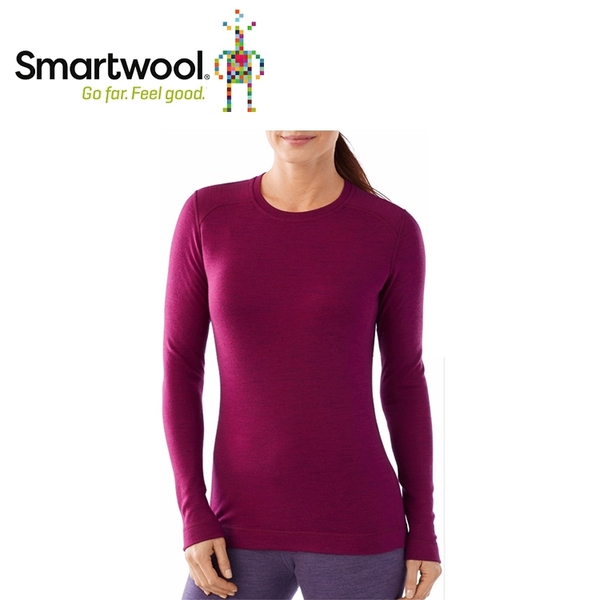 【美國 SmartWool 女NTS 250圓領長袖衫《紫莓色》】SW0SN224/長袖衛生衣/登山健行/保暖圓領