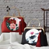 布藝diy —6個花色—仿香云紗仿真絲口金包材料包手工包套裝 - 歐美韓熱銷