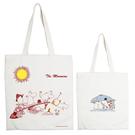 【MOOMIN】 - 購物包:【The Moomins 】 米白 / 麻黃